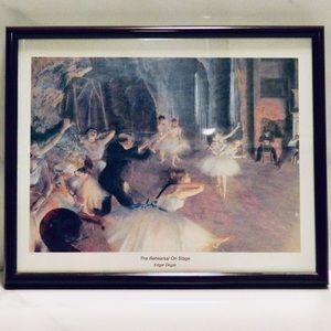 3/$33 The Rehearsal on Stage Edgar Degas Print